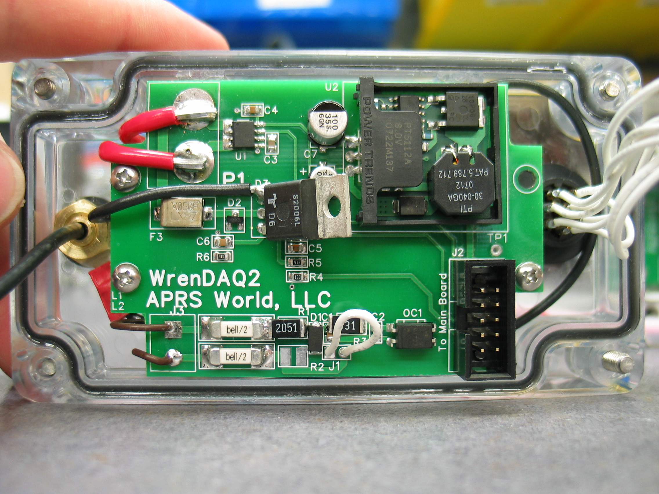 One Of Two Wrendaq2 Circuit Boards This Board Has A Current Sensor Ac View Full Size Slideshow