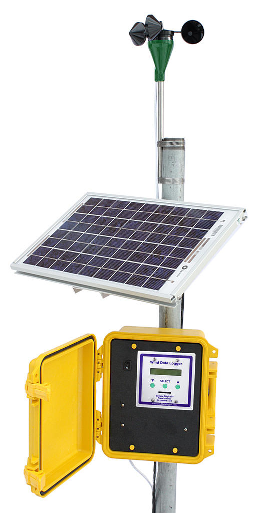 APRS6063: Wind Data Logger #40R Package, Solar Powered, Outdoor